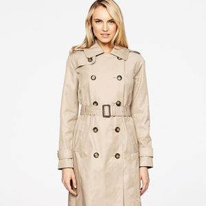 London Fog Double Breasted Trench Coat - Size 1X